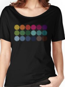 Cute Colorful Volleyballs Women's Relaxed Fit T-Shirt