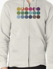 Cute Colorful Volleyballs Zipped Hoodie