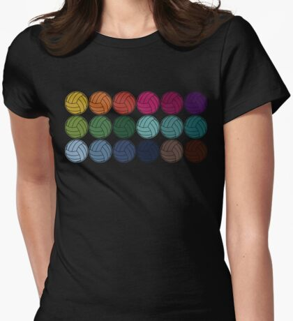 Cute Colorful Volleyballs Womens Fitted T-Shirt
