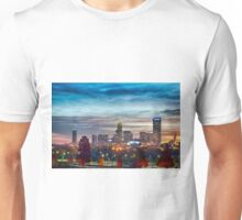 charlotte north carolina skyline morning sunrise Unisex T-Shirt