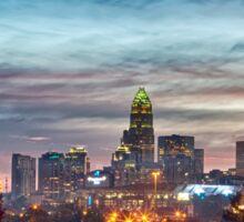 charlotte north carolina skyline morning sunrise Sticker