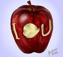 Moriarty IOU apple- BBC Sherlock by sherlockedphan
