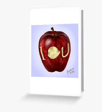 Moriarty IOU apple- BBC Sherlock Greeting Card