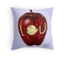 Moriarty IOU apple- BBC Sherlock Throw Pillow