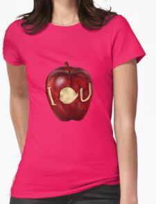 Moriarty IOU apple- BBC Sherlock Womens Fitted T-Shirt