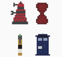Doctor Who Pixel Stickers by MaxCF