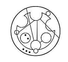 """Bowties are Cool"" Translated into Gallifreyan Photographic Print"