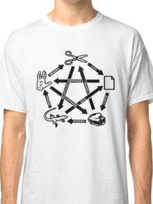 Rock Paper Scissors Lizard Spock T-Shirt Classic T-Shirt