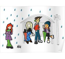 Raining at the Bus Stop Poster
