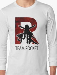 Team Rocket Texture R  Long Sleeve T-Shirt