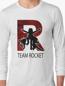 Team Rocket Texture R  Long Sleeve T-Shirt