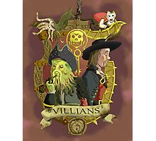 Villains- Pirates of The Caribbean Photographic Print