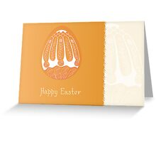 Easter egg card design with folk decoration Greeting Card