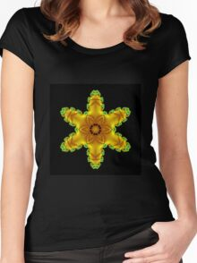 Yellow Star Women's Fitted Scoop T-Shirt