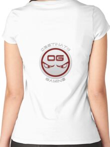 Obstinate Gaming (White Text) Women's Fitted Scoop T-Shirt
