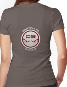 Obstinate Gaming (White Text) Womens Fitted T-Shirt