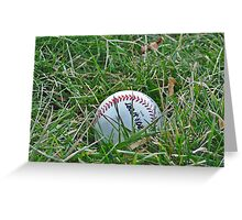 Baseball in Grass Greeting Card