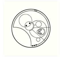 """Allons-y!"" Translated into Gallifreyan Art Print"