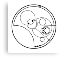 """""""Allons-y!"""" Translated into Gallifreyan Canvas Print"""