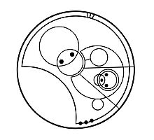"""Allons-y!"" Translated into Gallifreyan Photographic Print"