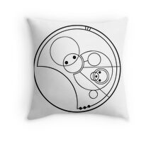 """""""Allons-y!"""" Translated into Gallifreyan Throw Pillow"""