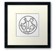 """Fantastic!"" Translated into Gallifreyan Framed Print"