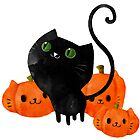Black Halloween Kitty Cat by colonelle