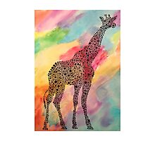 Tie-Dye Giraffe  Photographic Print