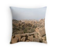 rocky desert mountains Throw Pillow
