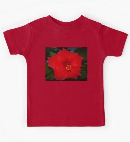 Pentagonal hibiscus Kids Tee