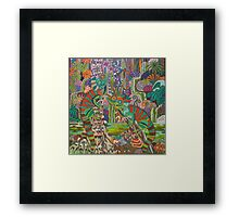 Rainforest Dragons Framed Print