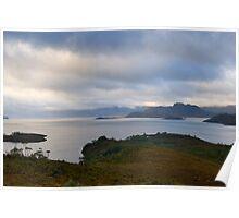 lake pedder panoramic Poster