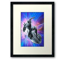 Space Surfin' by Al Rio Framed Print