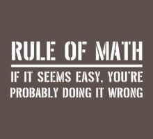 Rules of Math. If it seems easy you're probably doing it wrong by trends