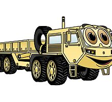 Military Truck Cartoon by Graphxpro