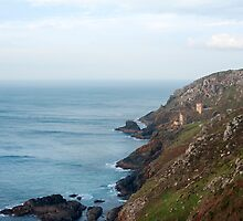 Tin mines on the Cornish coast by photoeverywhere