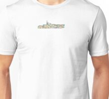 subway map new world trade center with city line Unisex T-Shirt