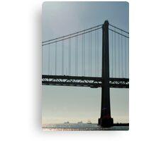 bay bridge silhouette Canvas Print