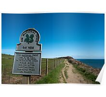 Signboard for Bay Ness, Yorkshire Poster