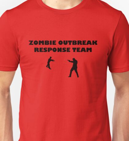 Zombie Outbreak Response Team Black Unisex T-Shirt