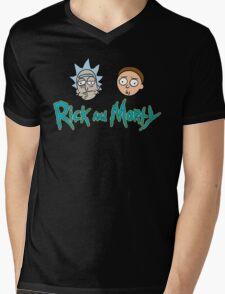 Rick and Morty face Mens V-Neck T-Shirt