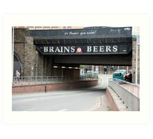 Underpass with a beer advertisement Art Print