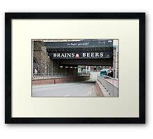 Underpass with a beer advertisement Framed Print