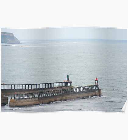 Breakwaters at Whitby Poster