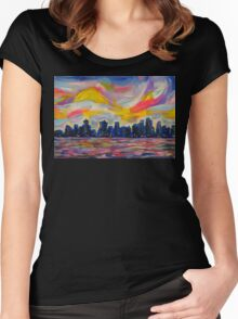 An Evening In Vancouver Women's Fitted Scoop T-Shirt