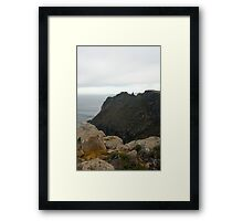 desolate cliffs Framed Print