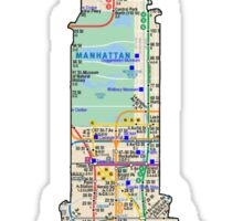 Chrysler Building, NYC SUbway Map, Building Sticker