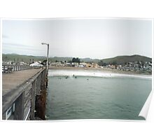 Cayucos Pier and Surf Break Poster