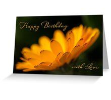 Calendula aglow - birthday Greeting Card