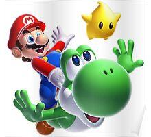 CHEAP Mario bros and yoshi hd 3d Poster